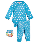 Skip Hop Pop Prints 3-Piece Baby Set Blueberry