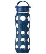 Lifefactory Glass Bottle Blue Classic Cap & Silicone Sleeve