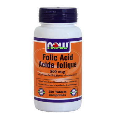 NOW Foods Folic Acid with Vitamin B12