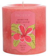 Pacifica Pillar Candle Hawaiian Ruby Guava