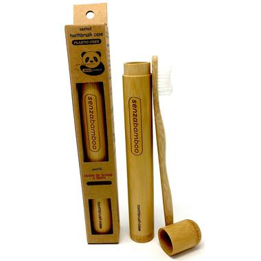 Senzacare Bamboo Toothbrush Case