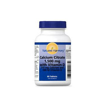 Nature\'s Harmony Calcium Citrate with Vitamin D