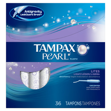 Tampax Pearl Unscented Plastic Tampons
