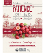 Patience & Co. Organic Dried Cranberries With Apple Juice