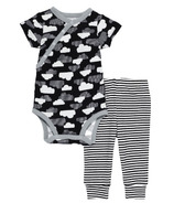 Skip Hop Star Struck Short Sleeve Bodysuit & Pant Set Clouds