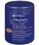 Noxzema Triple Clean Anti Blemish Facial Pads 90 Count