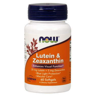 NOW Foods Lutein 25mg and Zeaxanthin 5mg