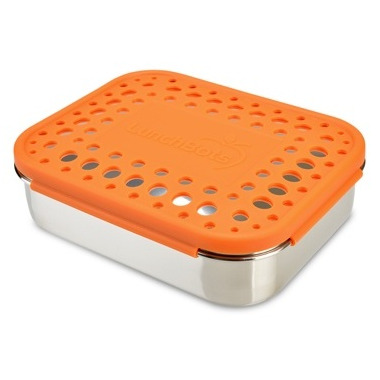 LunchBots Duo Orange Dots