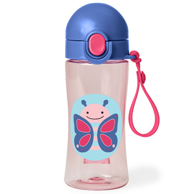 Skip Hop Zoo Lock-Top Sports Bottle Butterfly