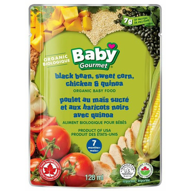 Baby Gourmet Black Bean Sweet Corn Chicken & Quinoa Baby Food