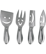 Trudeau Stainless Steel Cheese Knives Set