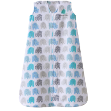 Halo SleepSack Wearable Blanket Microfleece TOG 1.0 Textured Elephant