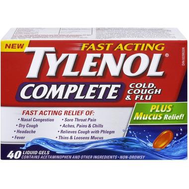 Tylenol Complete Cold, Cough & Flu Liquid Gels