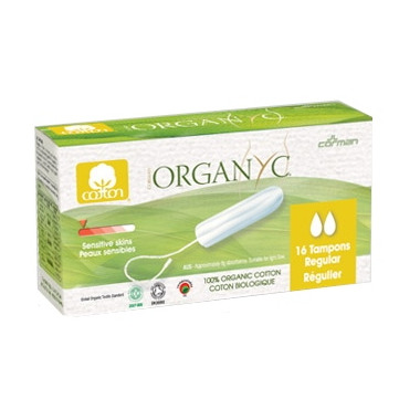 Organ(y)c 100% Organic Cotton Applicator Free Tampons