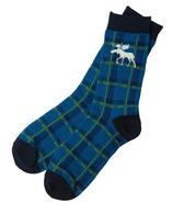 Hatley Men's Crew Socks Moose Plaid