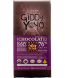 Giddy Yoyo Organic Raw Maca 76% Dark Chocolate Bar