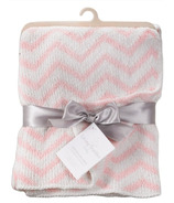 Living Textiles Chenille Blanket Pink Chevron