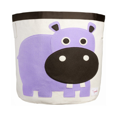 3 Sprouts Storage Bin Purple Hippo