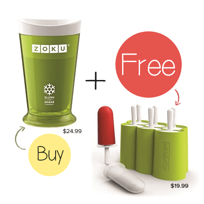 Zoku Slush & Shake Maker with a FREE Zoku Classic Pop Maker
