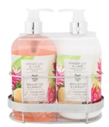 Brompton & Langley Ginger Lily Lime Lotion & Body Wash Cady Set