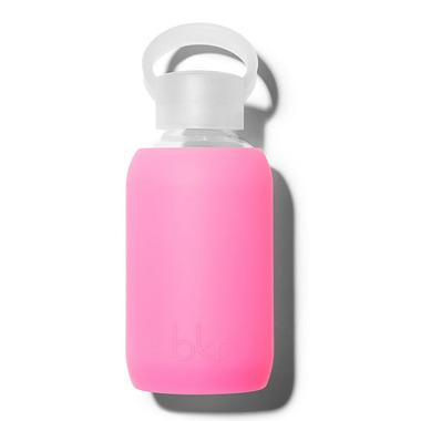 bkr Bambi Glass Water Bottle Sheer Neon Pink