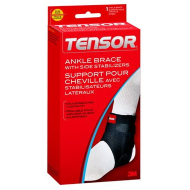 3M Tensor Ankle Brace with Side Stabilizers