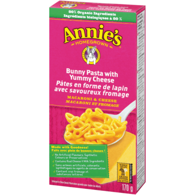 Annie\'s Homegrown Bunny Pasta with Yummy Cheese