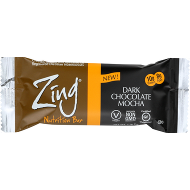 Zing Bars Dark Chocolate Mocha Nutrition Bars