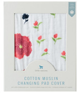 Little Unicorn Cotton Muslin Changing Pad Cover Summer Poppy