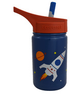 Eco Vessel Scout Kids Stainless Steel Water Bottle With Flip Straw
