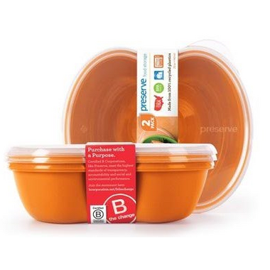 Preserve Sandwich Food Storage Containers Orange