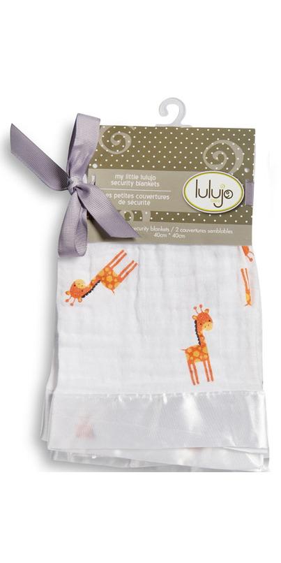 Buy Lulujo Baby Muslin Cotton Security Blankets Giraffes 2 ...