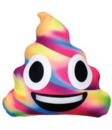 Iscream Rainbow Poop Emoji Microbead Pillow