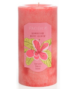 Pacifica Pillar Candle Hawaiian Ruby Guava