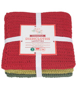 Now Designs Homespun Holiday Dish Cloth Set