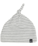 Vonbon Knotted Hat Grey Stripe