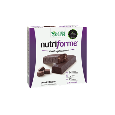 Adrien Gagnon Nutriforme Meal Replacement Bars Decadent Fudge