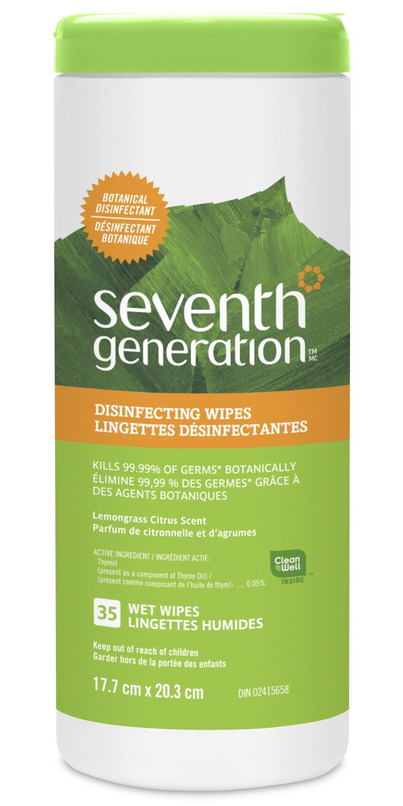 Disinfecting Wipes clean & disinfect in one easy step When used as directed, Seventh Generation Disinfecting Wipes kill percent of household germs*, specifically: Influenza A virus, Staphylococcus aureus, Salmonella enterica, Pseudomonas aeruginosa, and Escherichia coli .