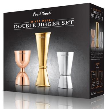 Final Touch Mixed Metal Double Jigger Set