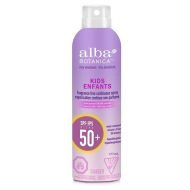Alba Botanica Very Emollient Kids Continuous Spray Sunscreen SPF 50+