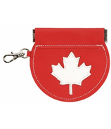 Mally Designs Maple Leaf Leather Change Purse