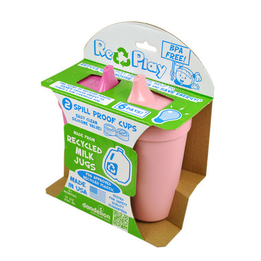 Re-Play Spill Proof Cups Princess Bright Pink and Baby Pink