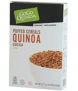 GoGo Quinoa Organic Puffed Quinoa Cereal Cocoa