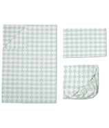 Lolli Living Toddler Sheet Set Kayden Mint Scallop