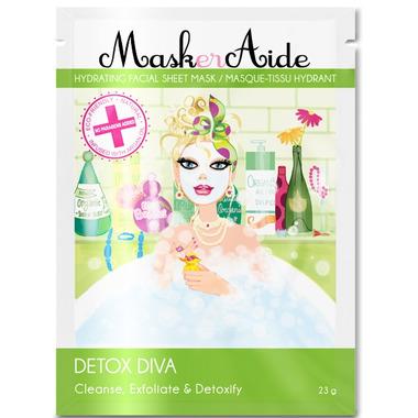 MaskerAide Detox Diva Hydrating Facial Sheet Mask