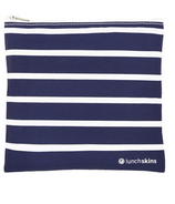 Lunchskins Navy Stripe Medium Zippered Bag