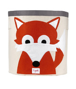 3 Sprouts Storage Bin Orange Fox