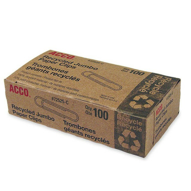 Acco Recycled Jumbo Paper Clips