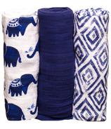 Little Unicorn Cotton Muslin Swaddle Set Indie Elephant