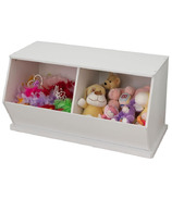 KidKraft Double Storage Unit White